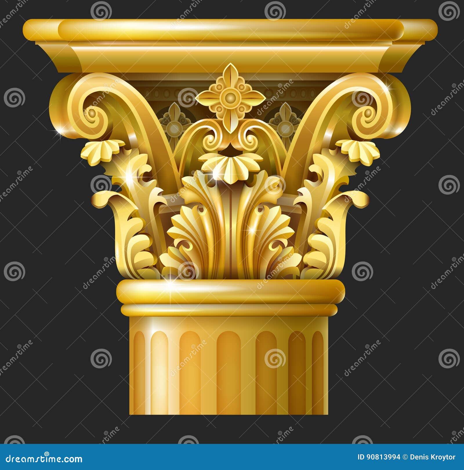 Colonne de Corinthien d or