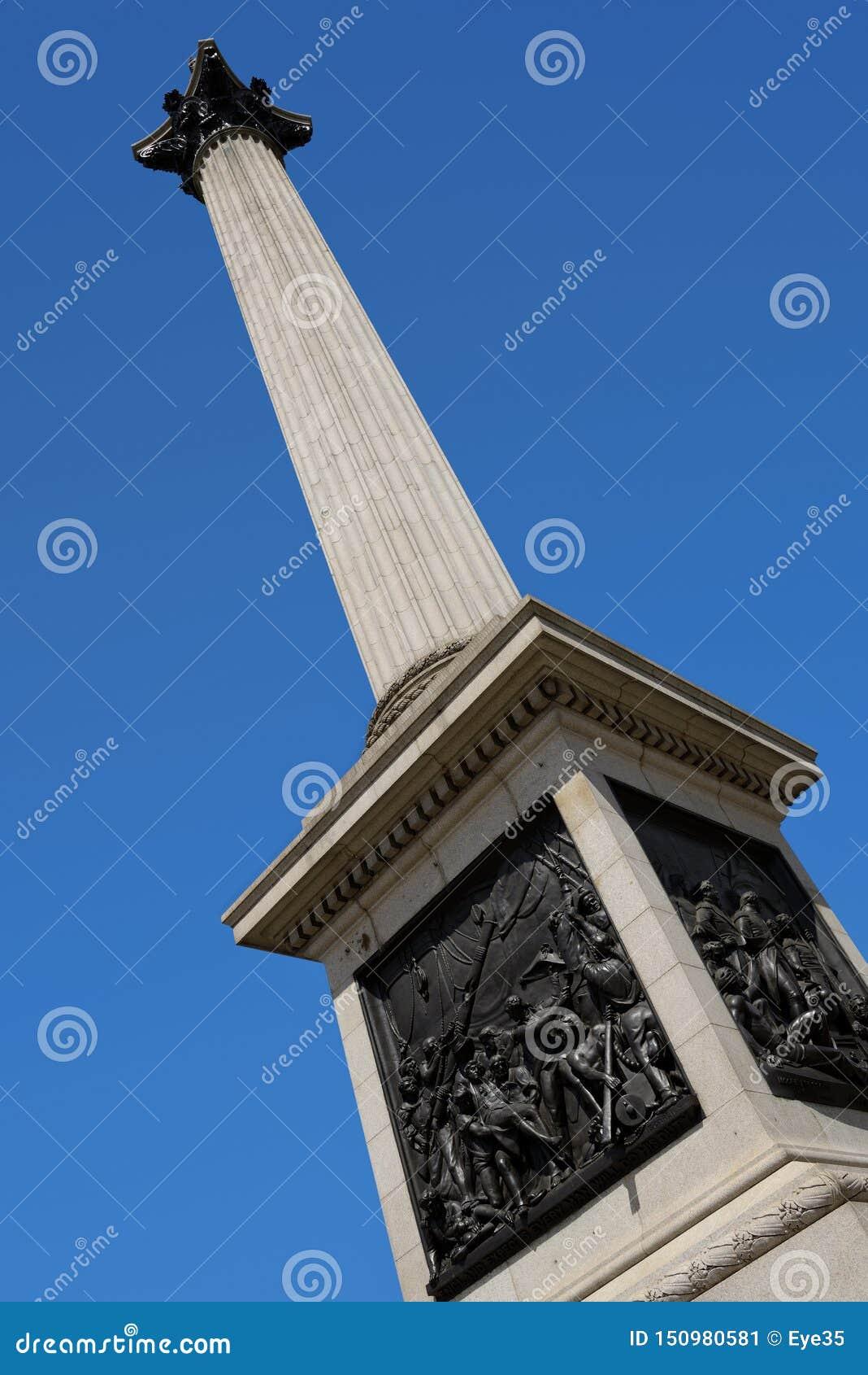 Colonne de Nelsons, Trafalgar Square, Londres