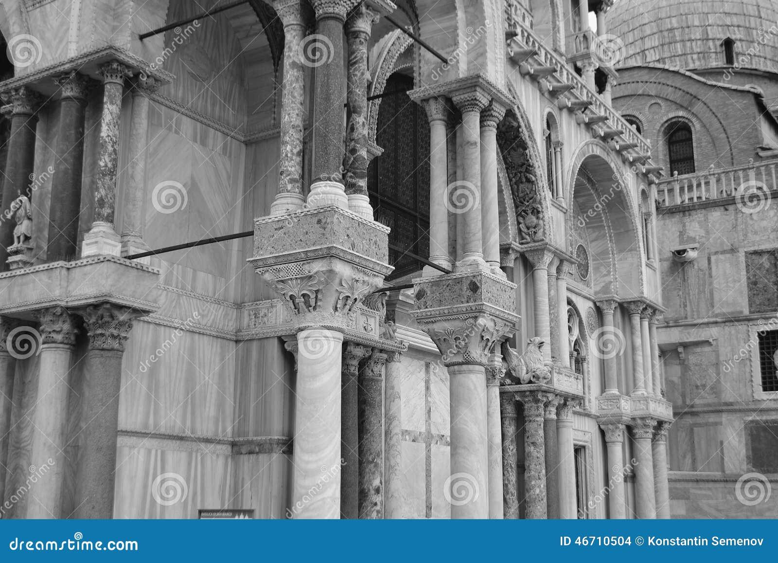 Colonne della basilica di san marco fotografia stock for Esterno basilica di san marco