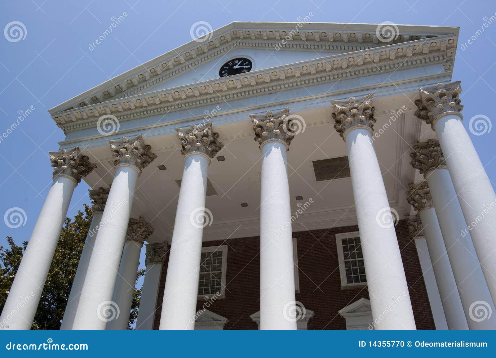 Colonne greche fotografia stock immagine di dichiara for Colonne di portico di casa