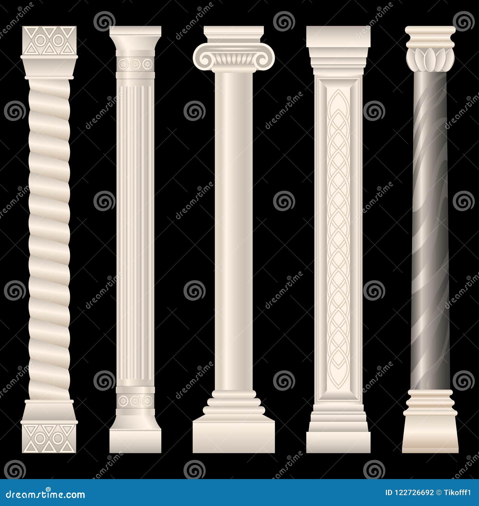 Colonne nello stile antico, barocco, stucco, marmo