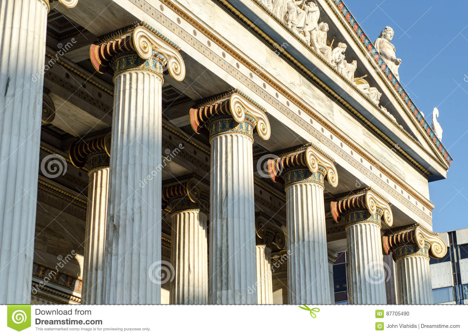 Colonnes d académie d Athènes
