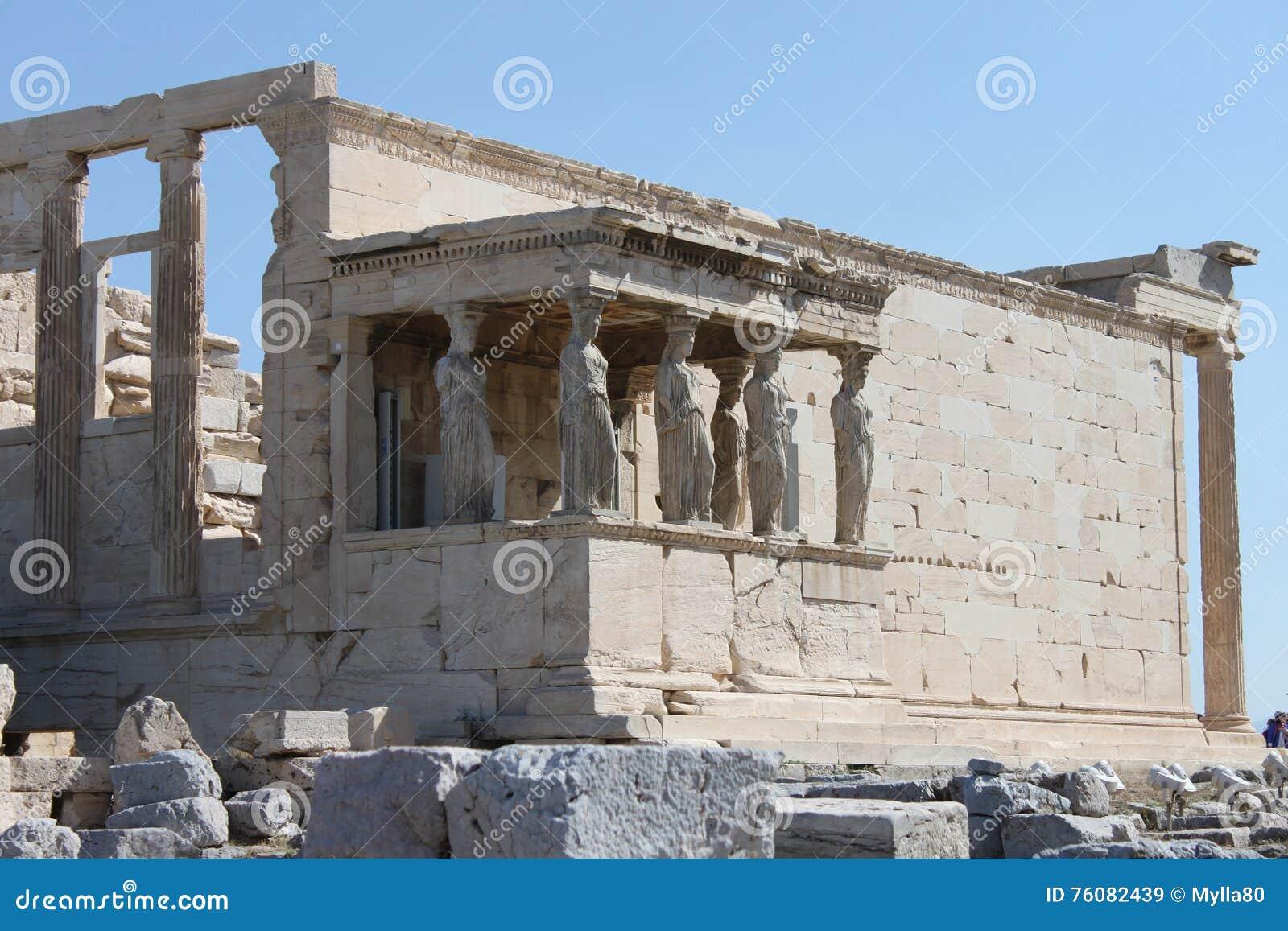 Colonnes de cariatide dans l Acropole - Athènes - Grèce