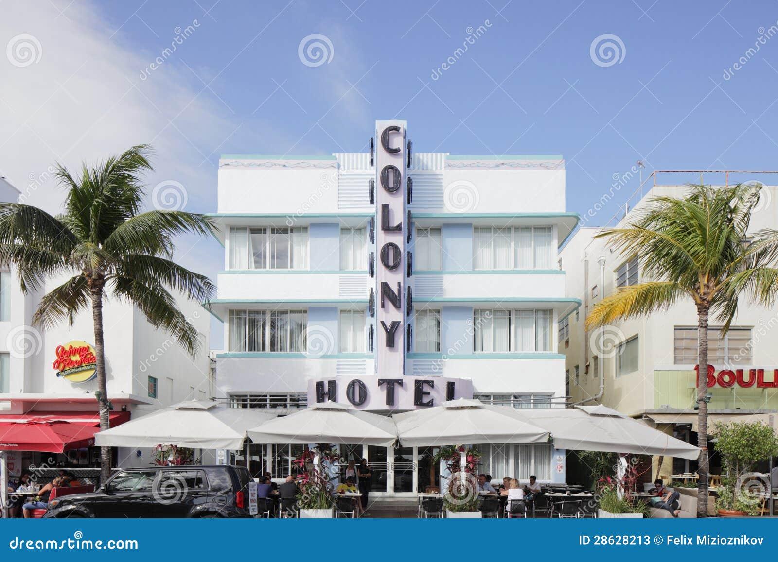 The Colony Hotel Miami Beach Editorial Stock Photo Image