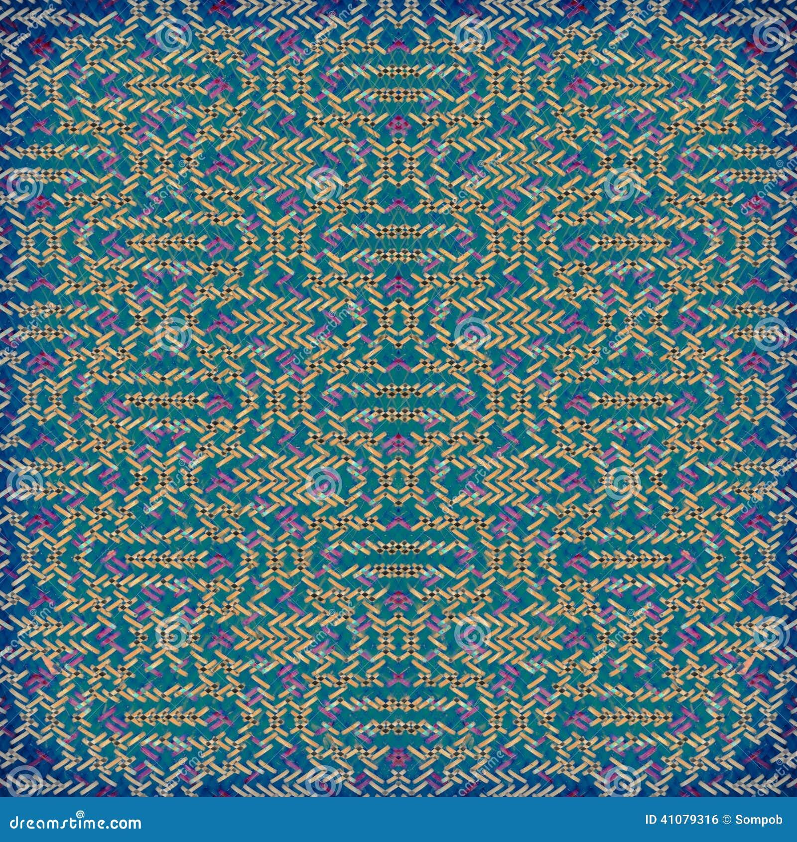 Colore Du Tapis En Plastique Tisse Du Rouge Et Du Bleu