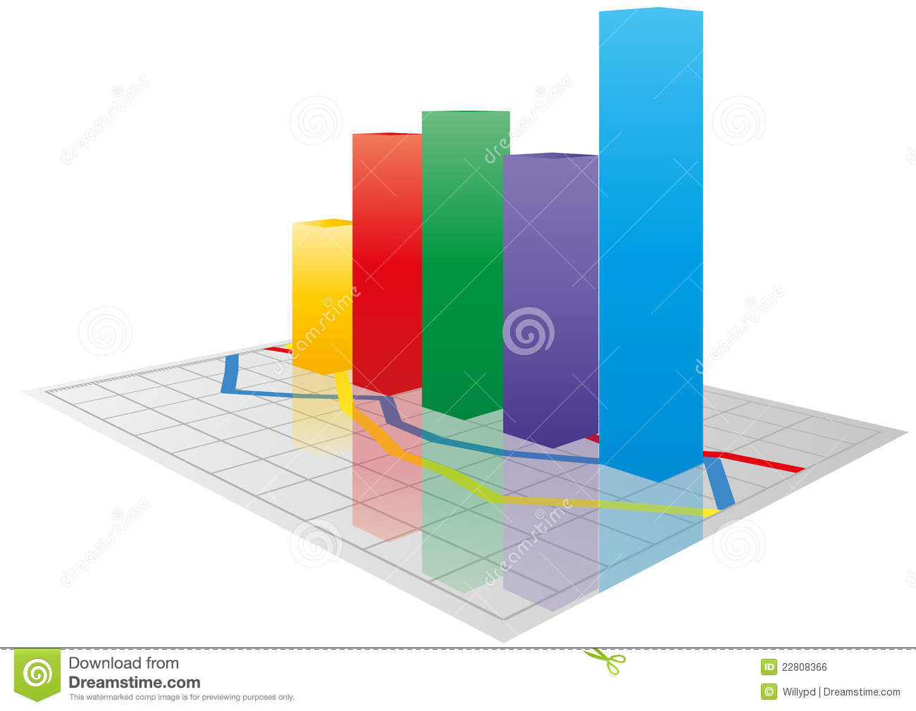 Color 3d Graph Royalty Free Stock Image Image 22808366