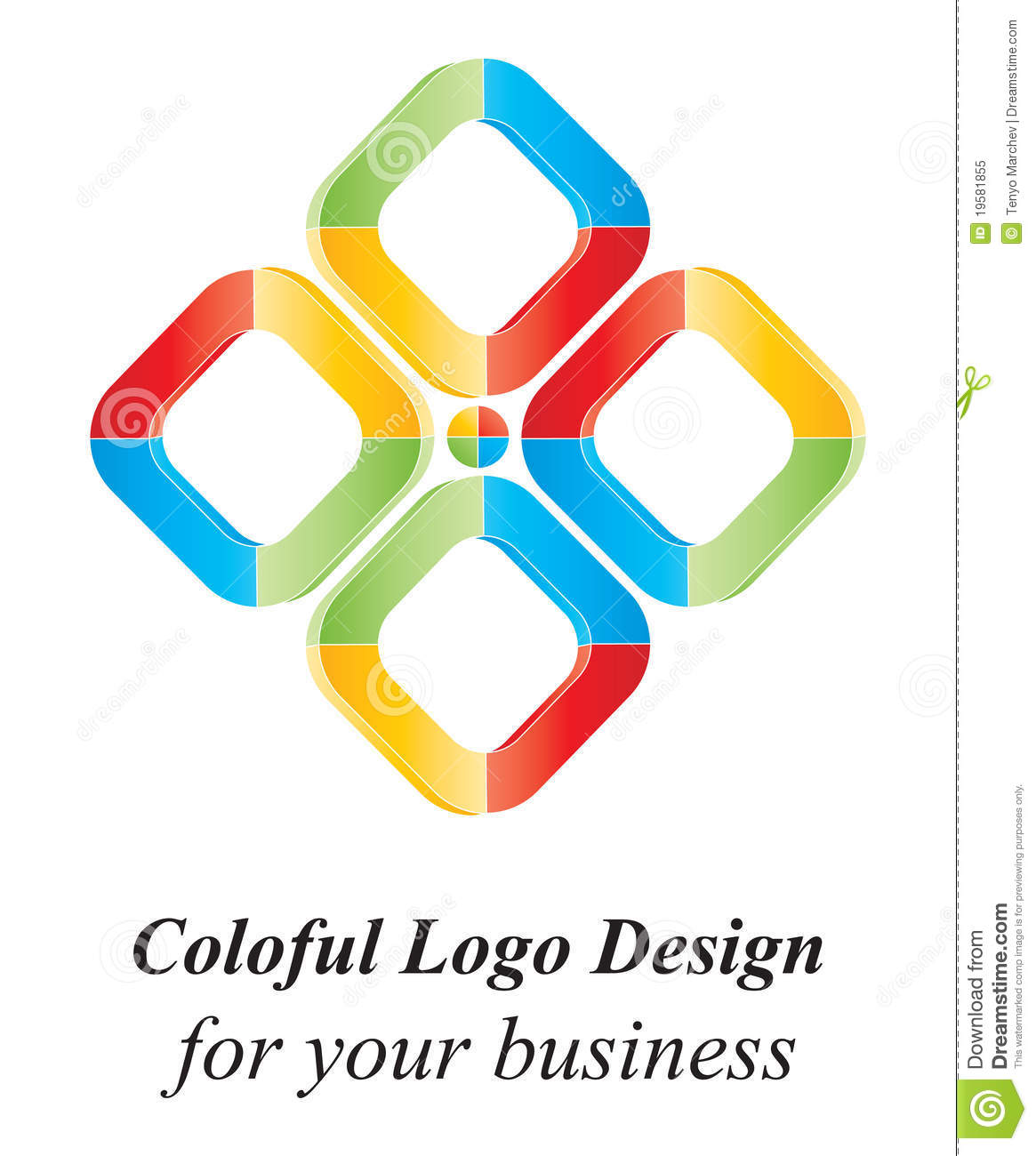 Color 3D logo design stock vector  Illustration of isolated