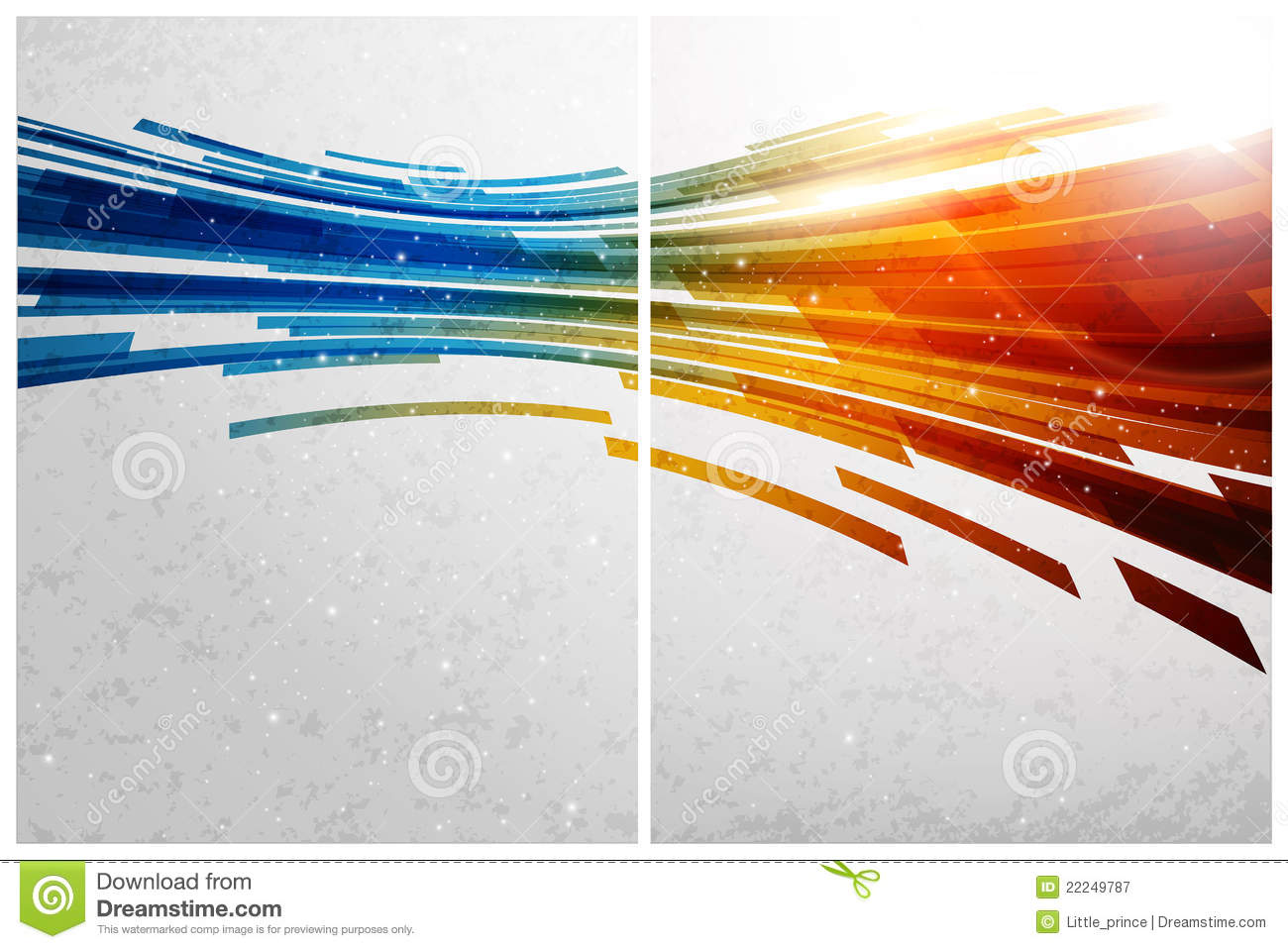color abstract background  front and back royalty free