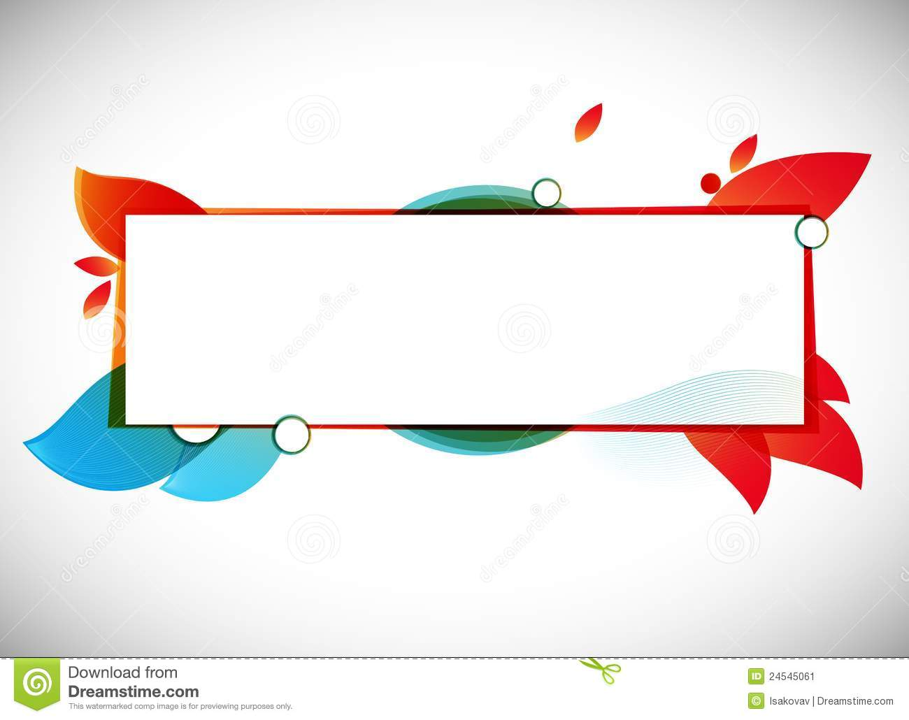 Abstract Vector Background / Text Frame Stock Image  Image: 24545061