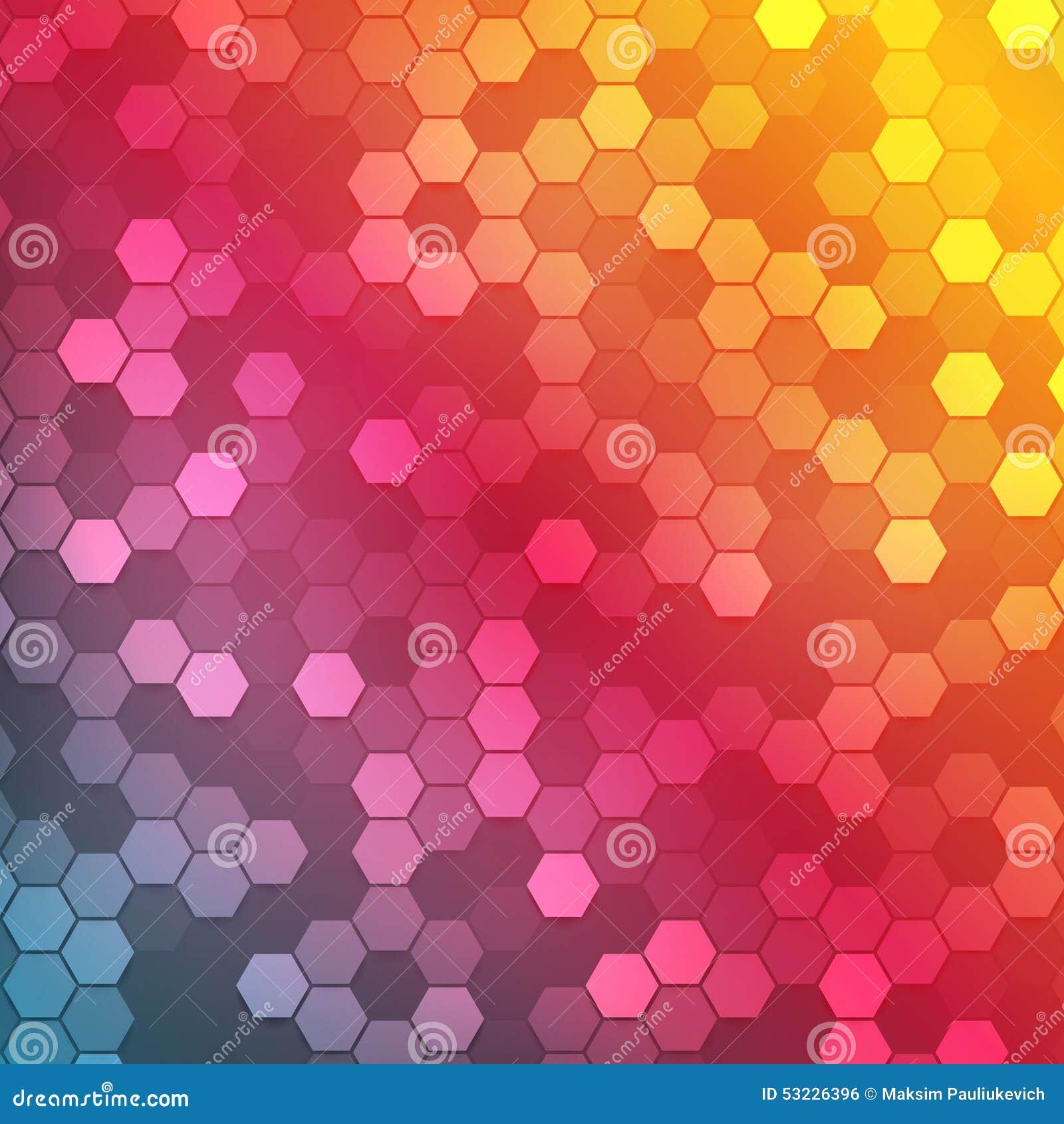 Color abstracto 3d del vector hexagonal