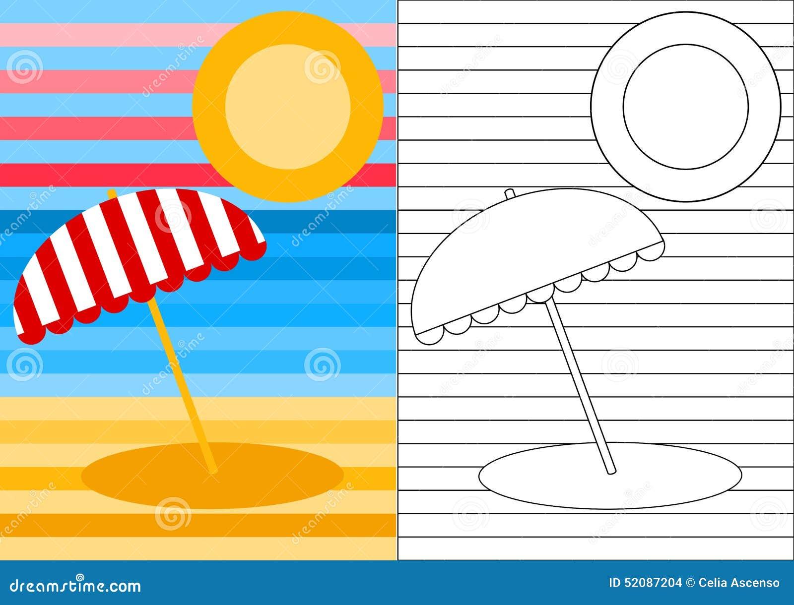 color activity page beach landscape stock images