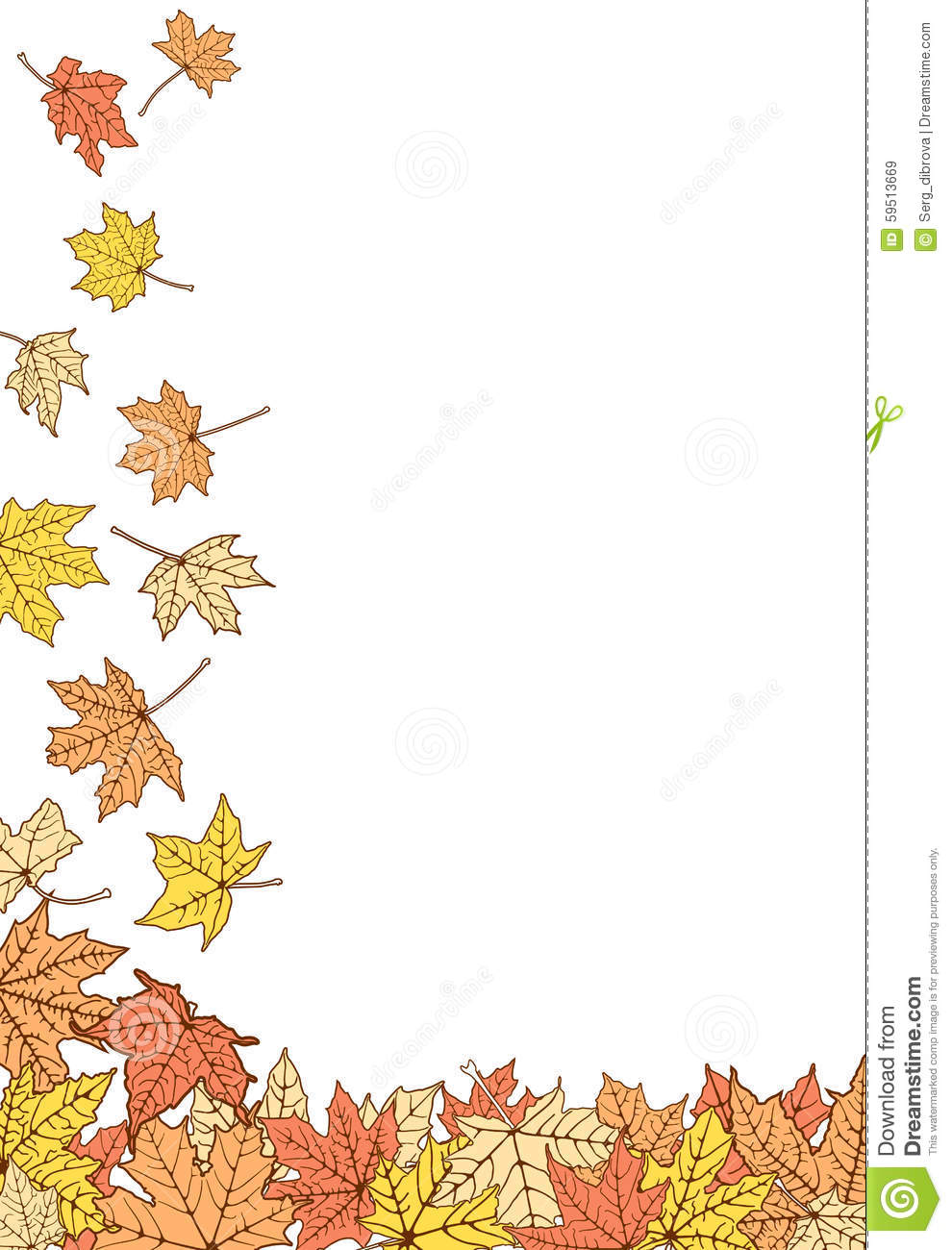 color autumn leaves template stock vector illustration of banner
