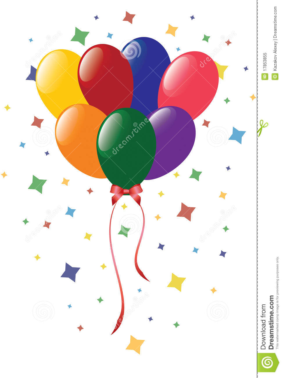 Color Balloons With Confetti Royalty Free Stock Photo - Image ...