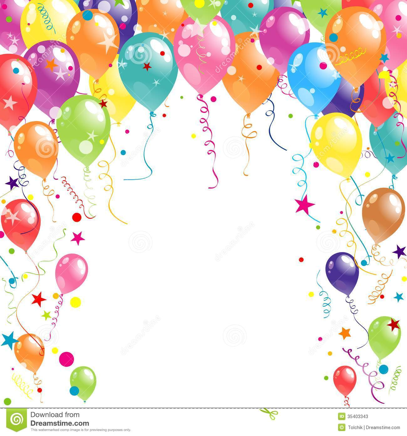 Color Beautiful Party Balloons, Vector Stock Photos - Image: 35403343