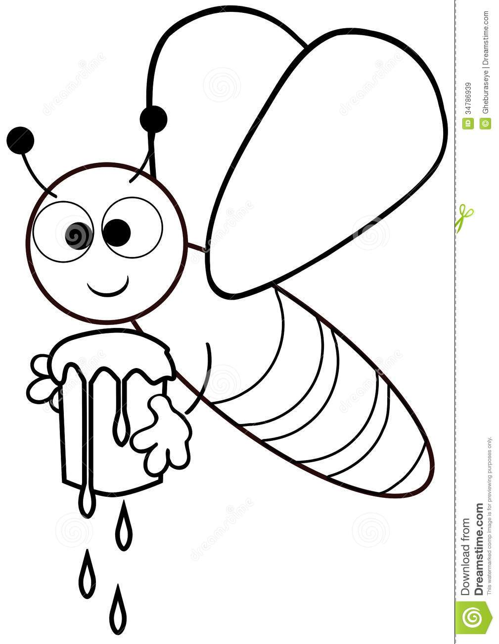 Color The Bee Royalty Free Stock Images