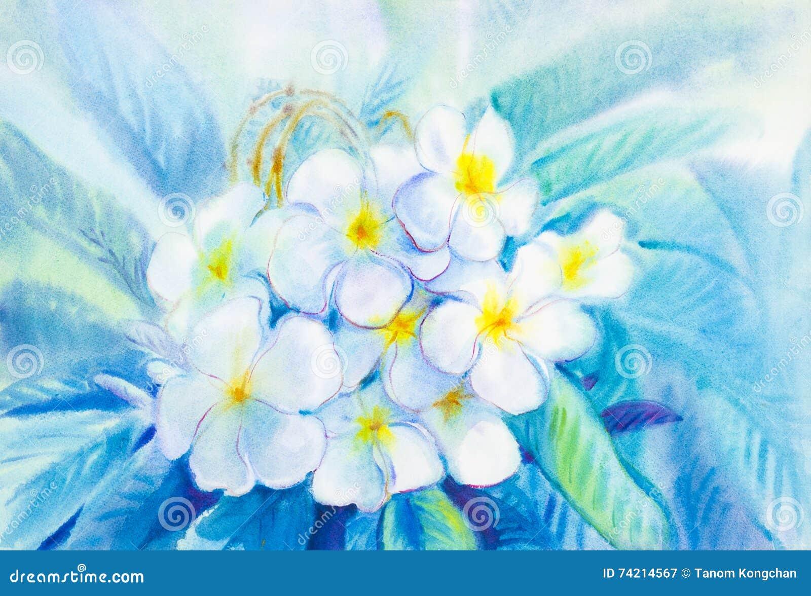 Color Blanco De Pintura De Las Hojas De La Flor Y Del Verde Del ...