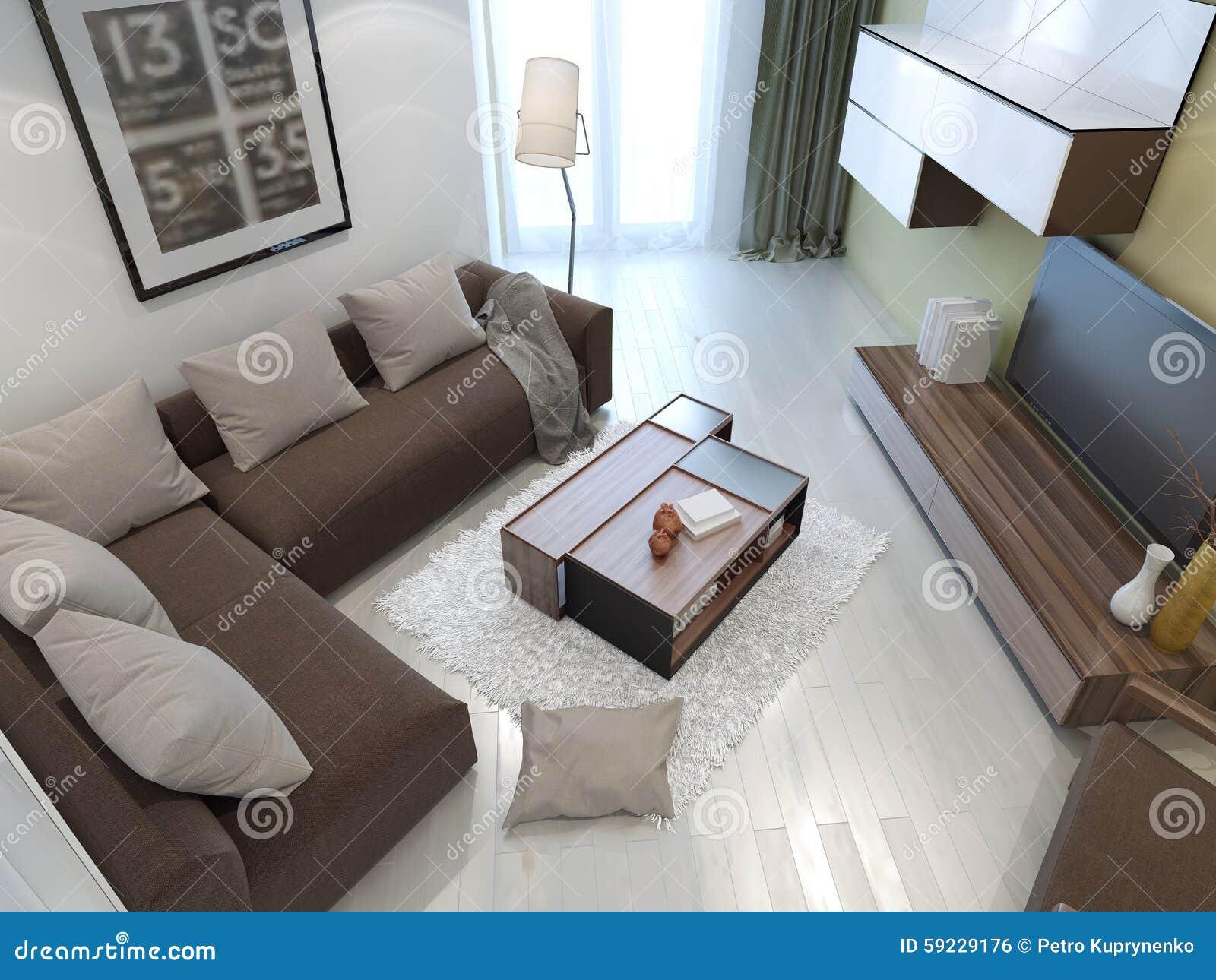 Color blanco dentro de la sala de estar