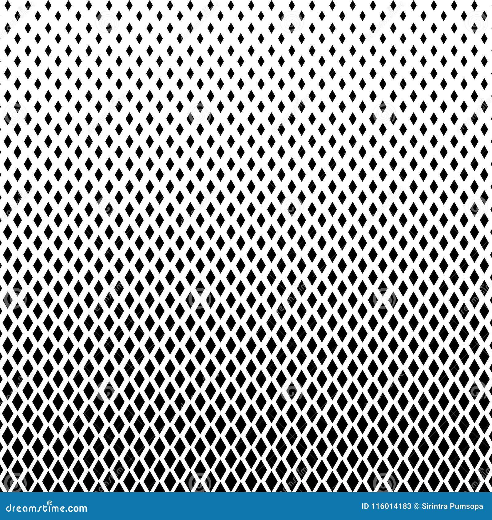 Color blanco y negro abstracto del golpeteo de semitono de las formas de los cuadrados