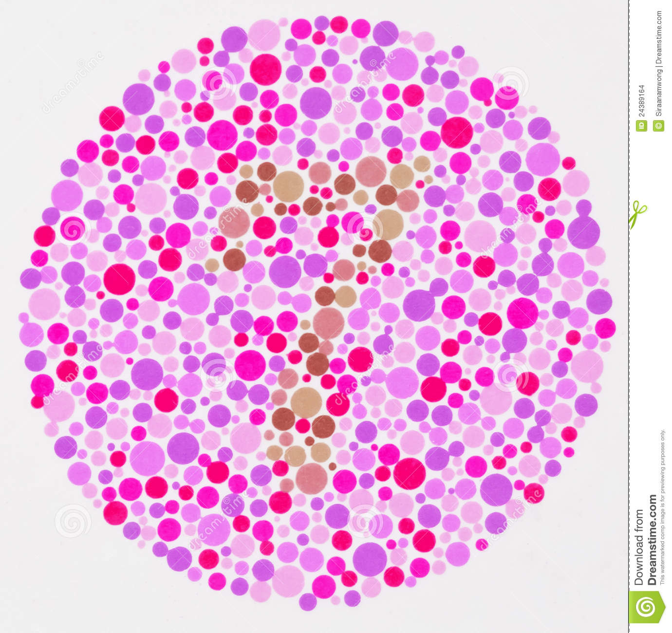 Color blind test - 7 stock photo. Image of look, dots - 24389164