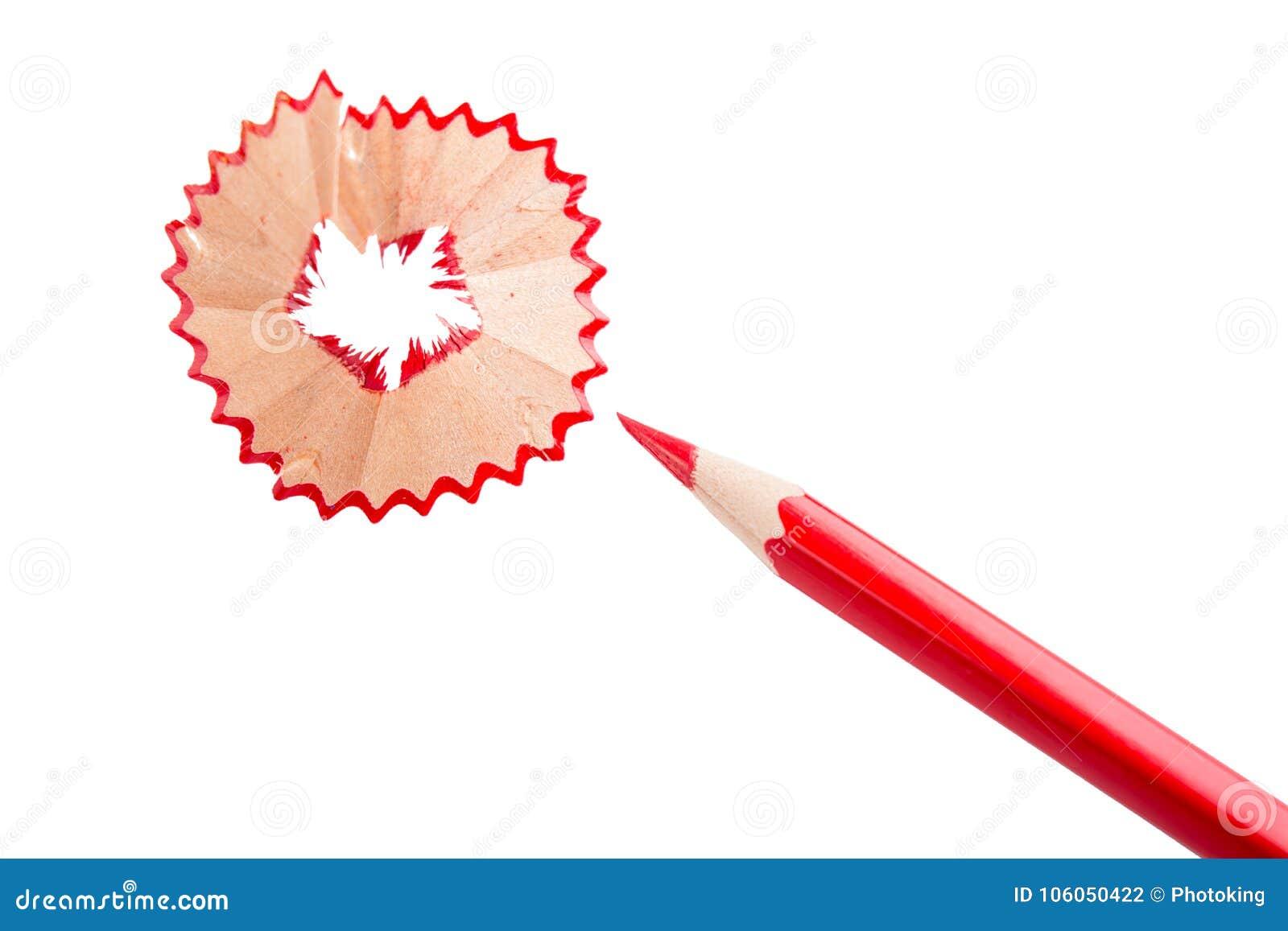Color blyertspennan röd