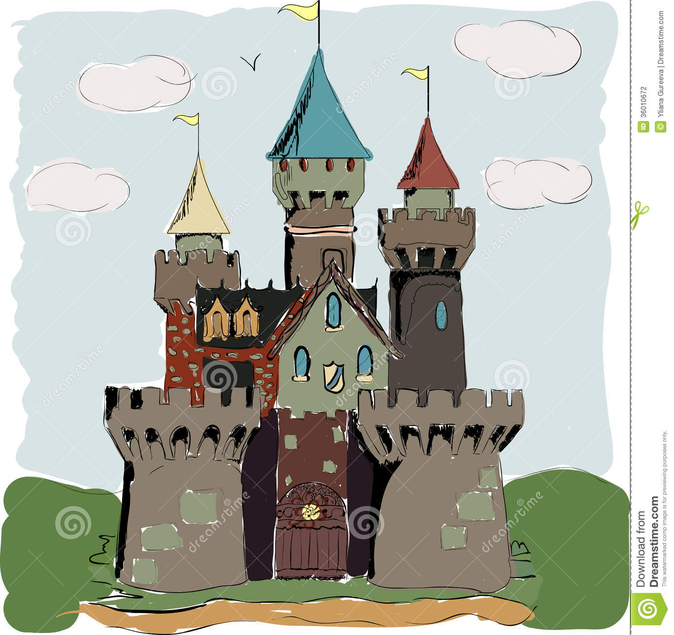 Fairy Tale Book Clipart Color book palace fairy tale
