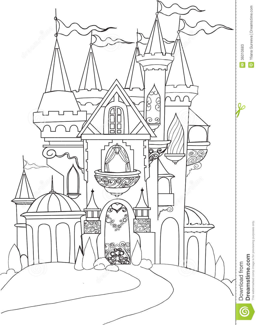 color book palace fairy tale stock photos image 36010683