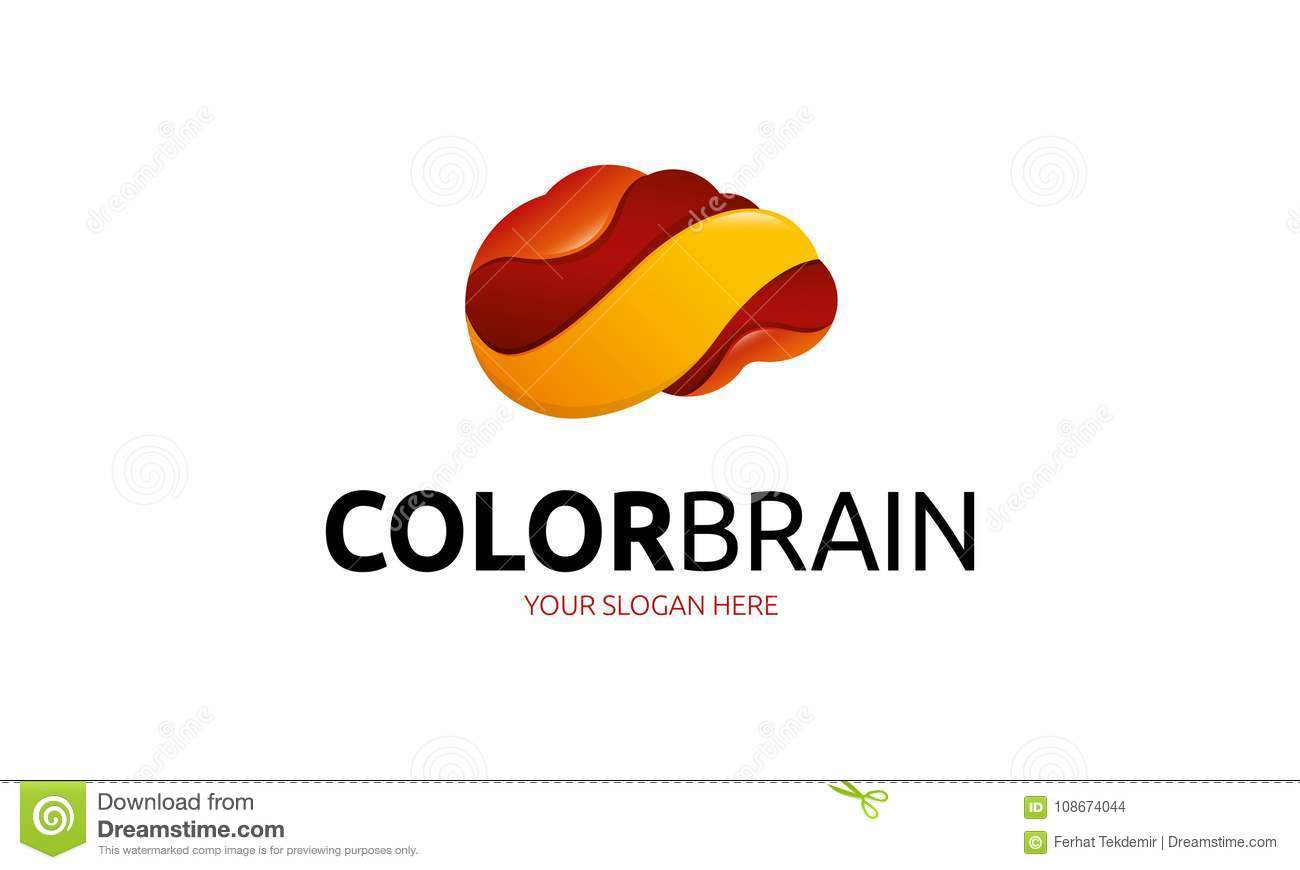 Color Brain Logo Template Stock Illustration Illustration Of Media