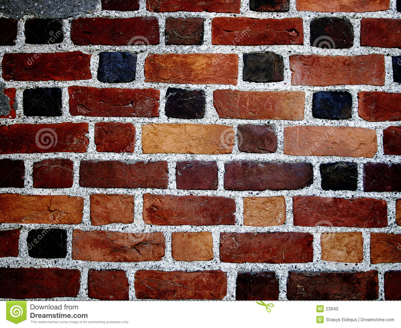 Color Bricks Wall II Stock Photo