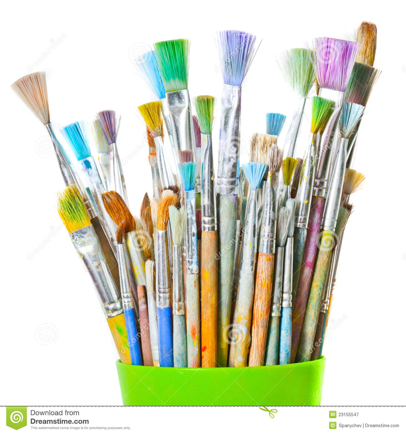 color brushes isolated image stock image image of shot many 23155547