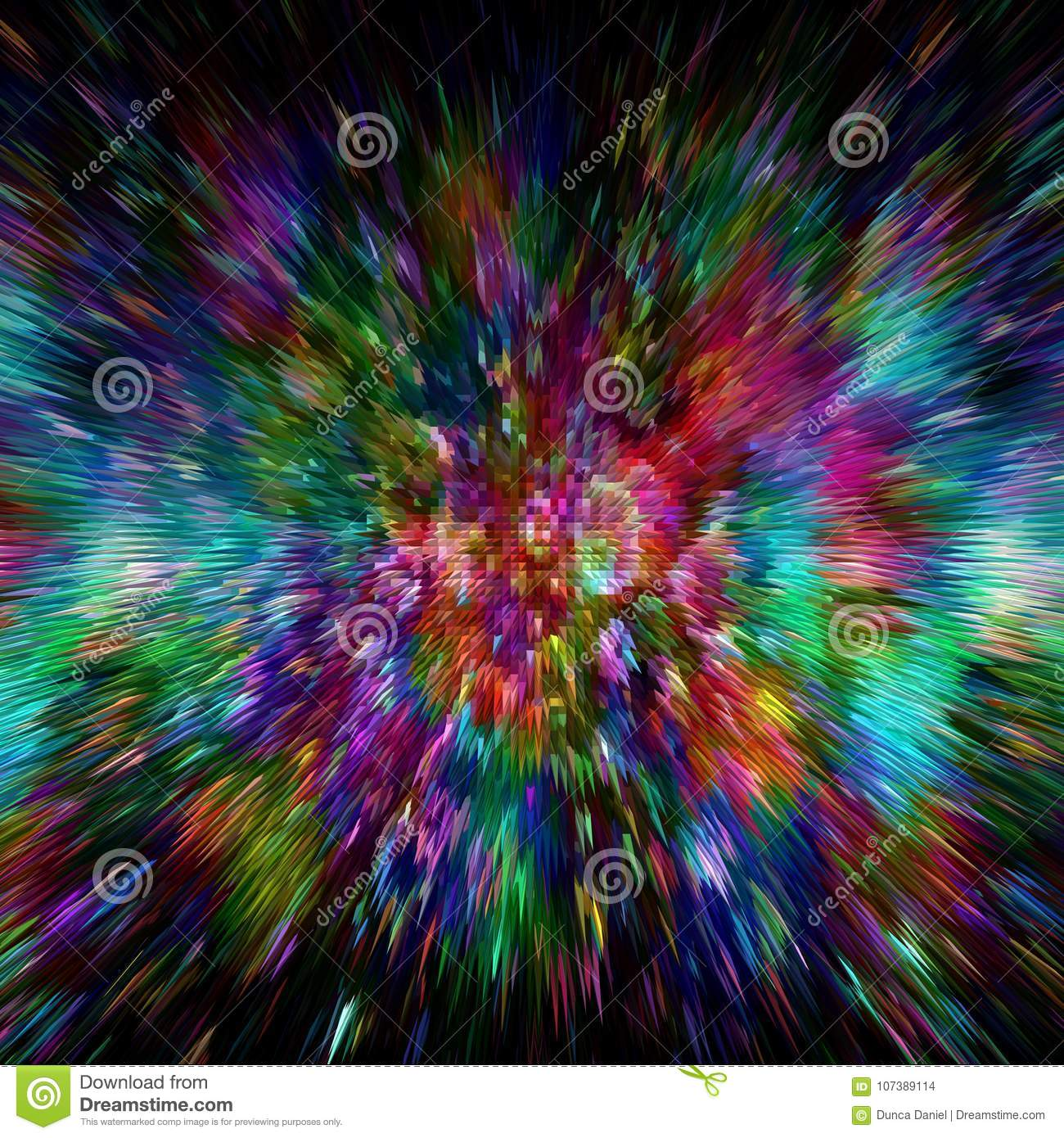 Color Burst Abstract Colorful Background Zoom Blur Explosion Wallpaper