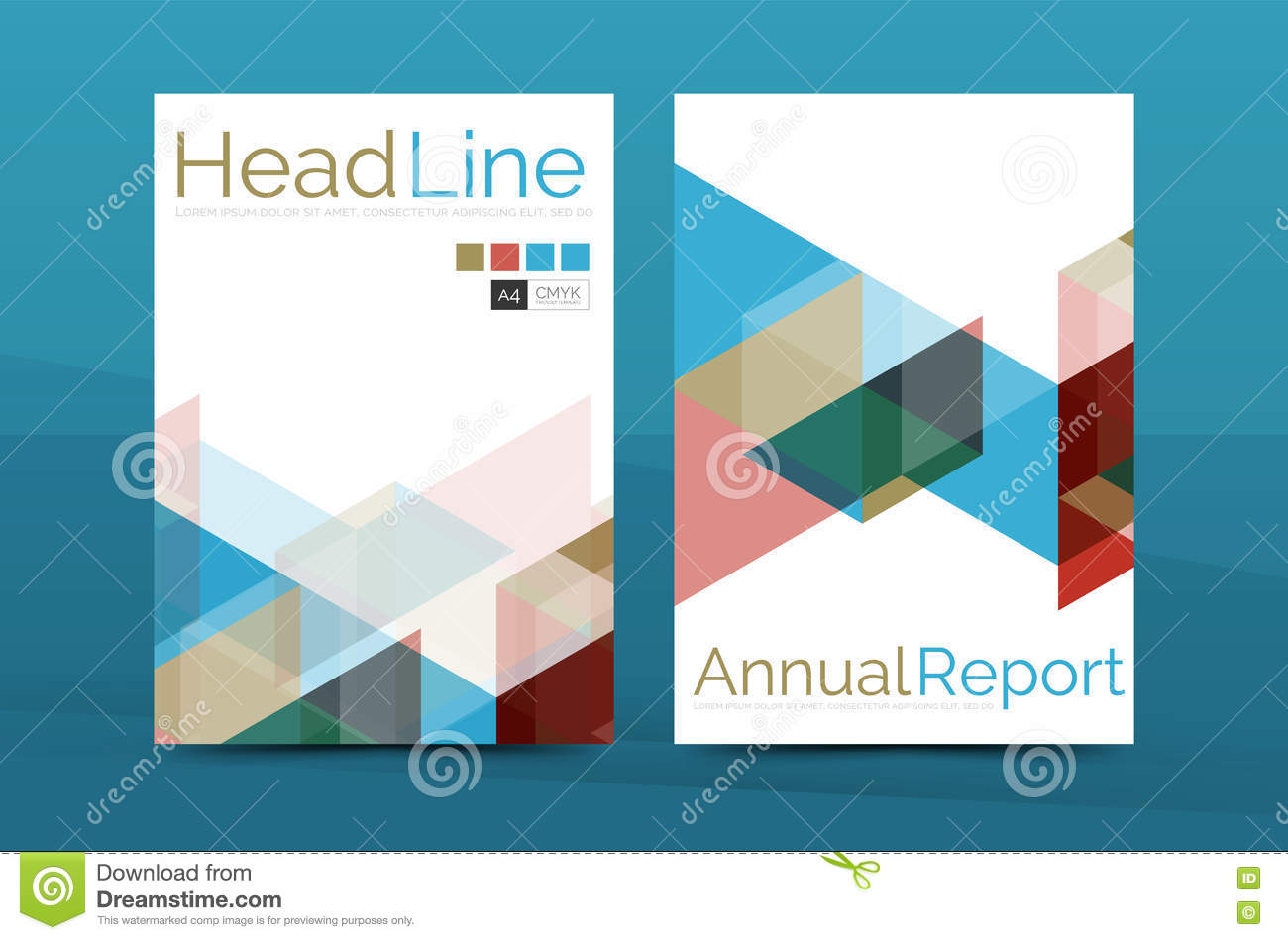 Report Front Page Template Report Front Cover Color Business - Business cover page template