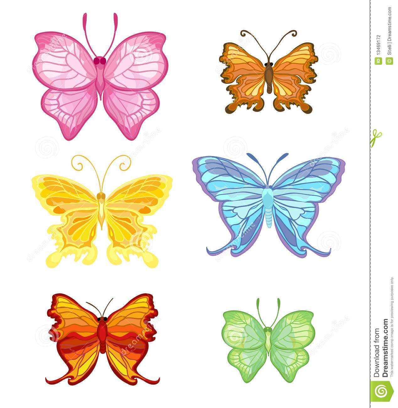 Color Butterfly Stock Vector Illustration Of Yellow 13469172