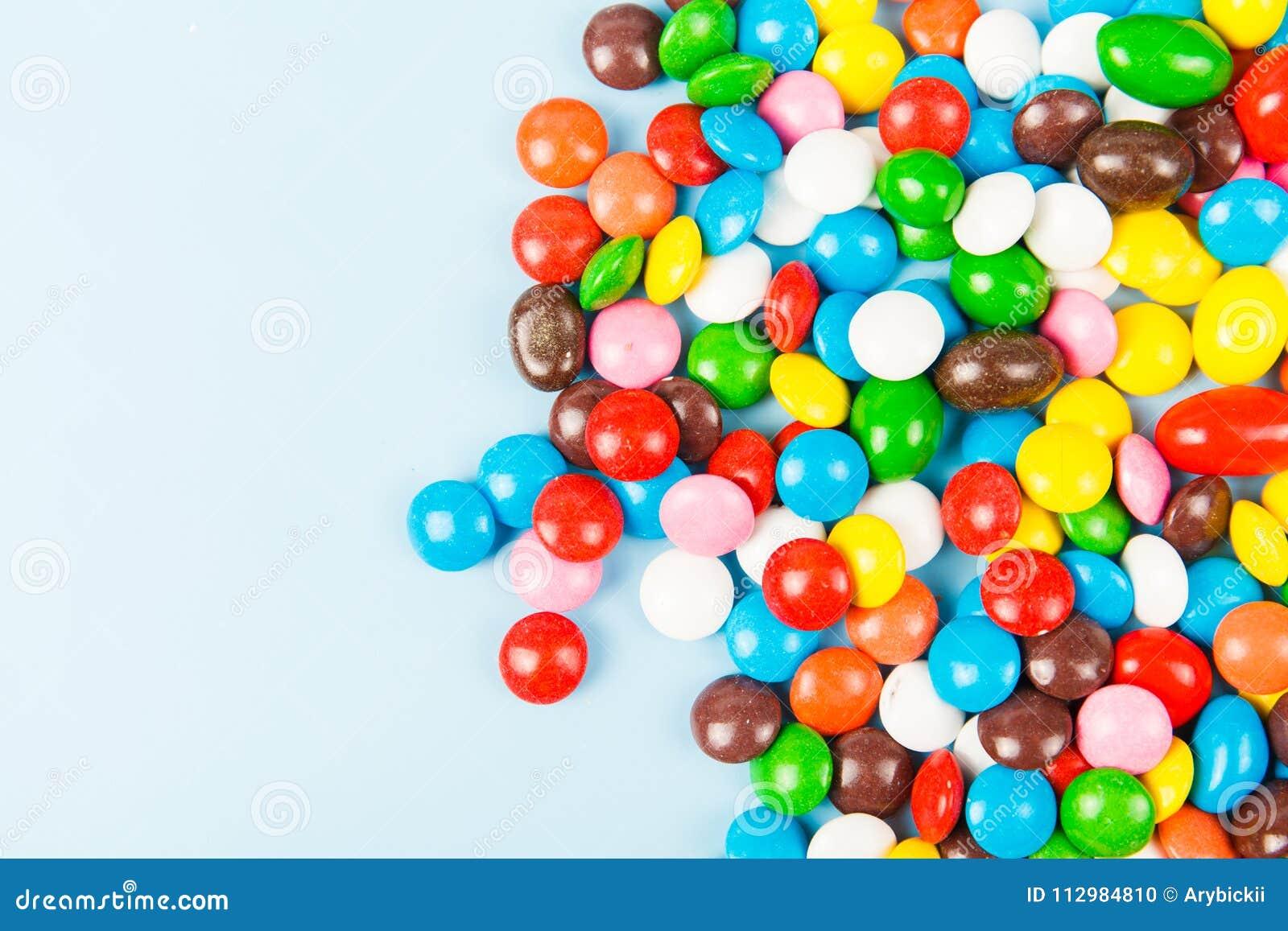 Color candy glaze close up
