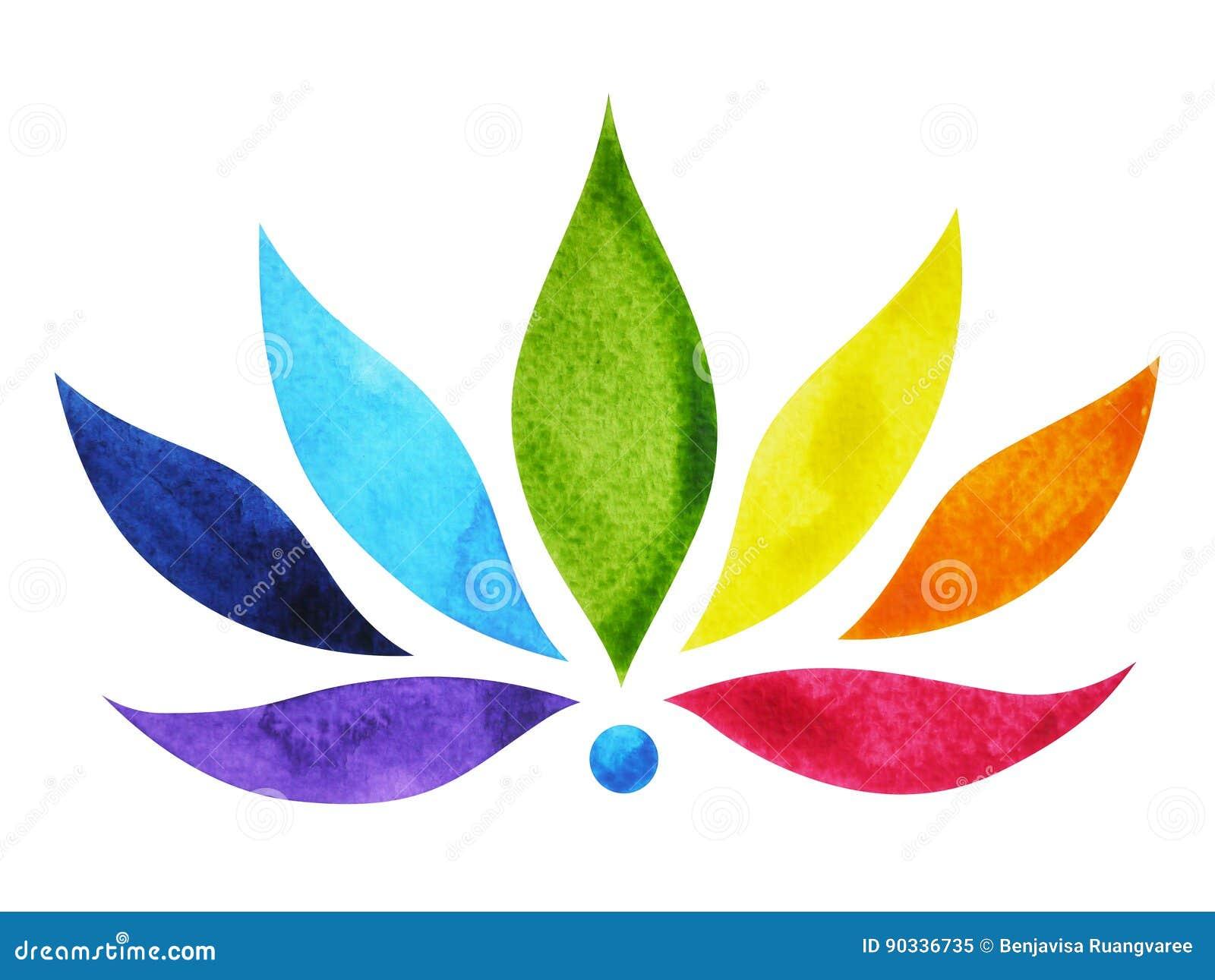 7 color of chakra sign symbol colorful lotus flower watercolor download 7 color of chakra sign symbol colorful lotus flower watercolor painting stock illustration mightylinksfo
