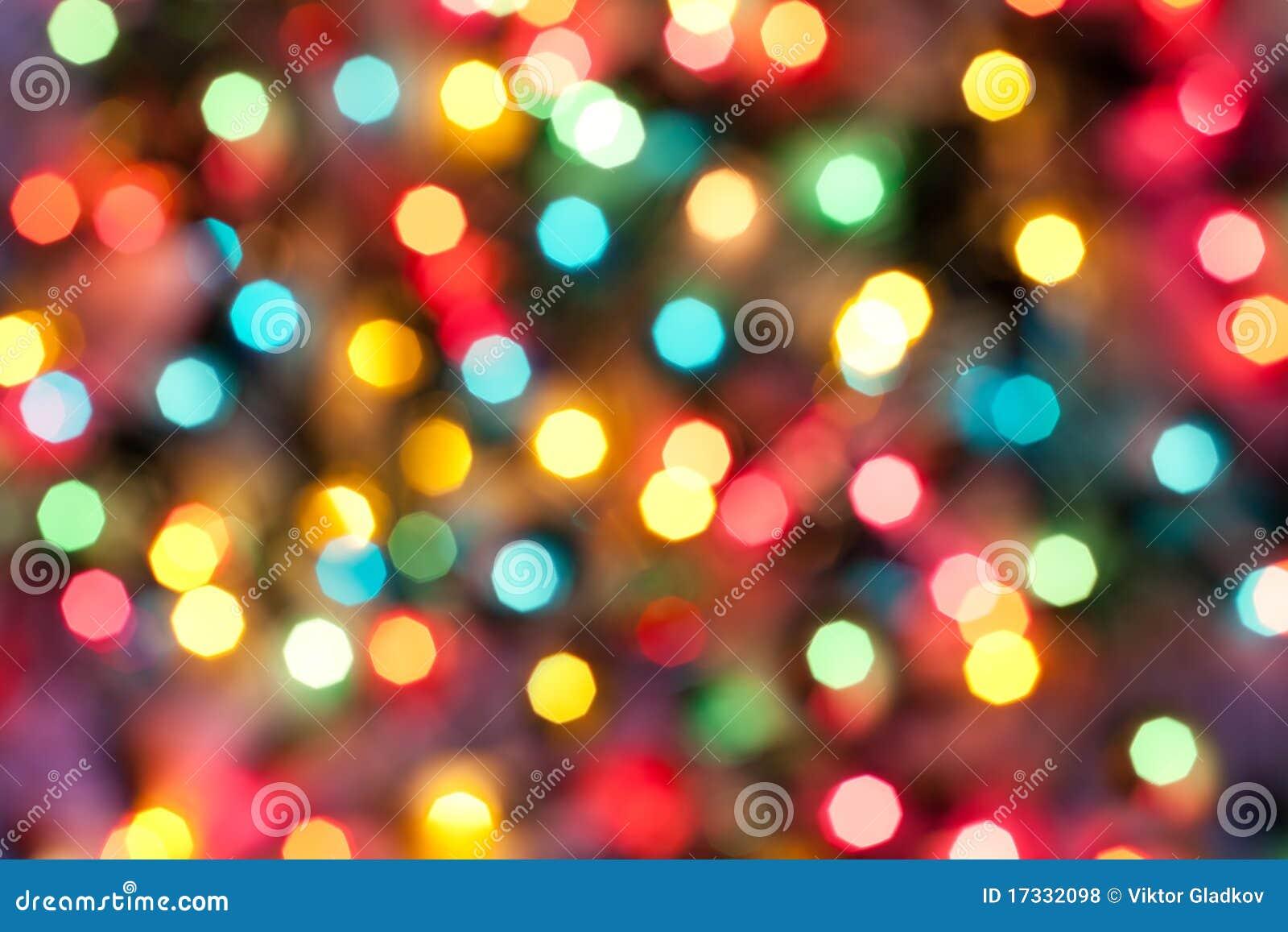 Color Christmas abstract lights
