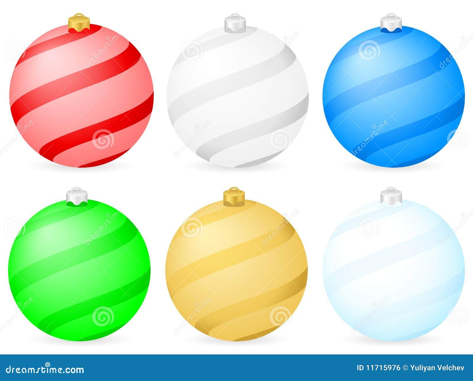 Color christmas balls royalty free stock image