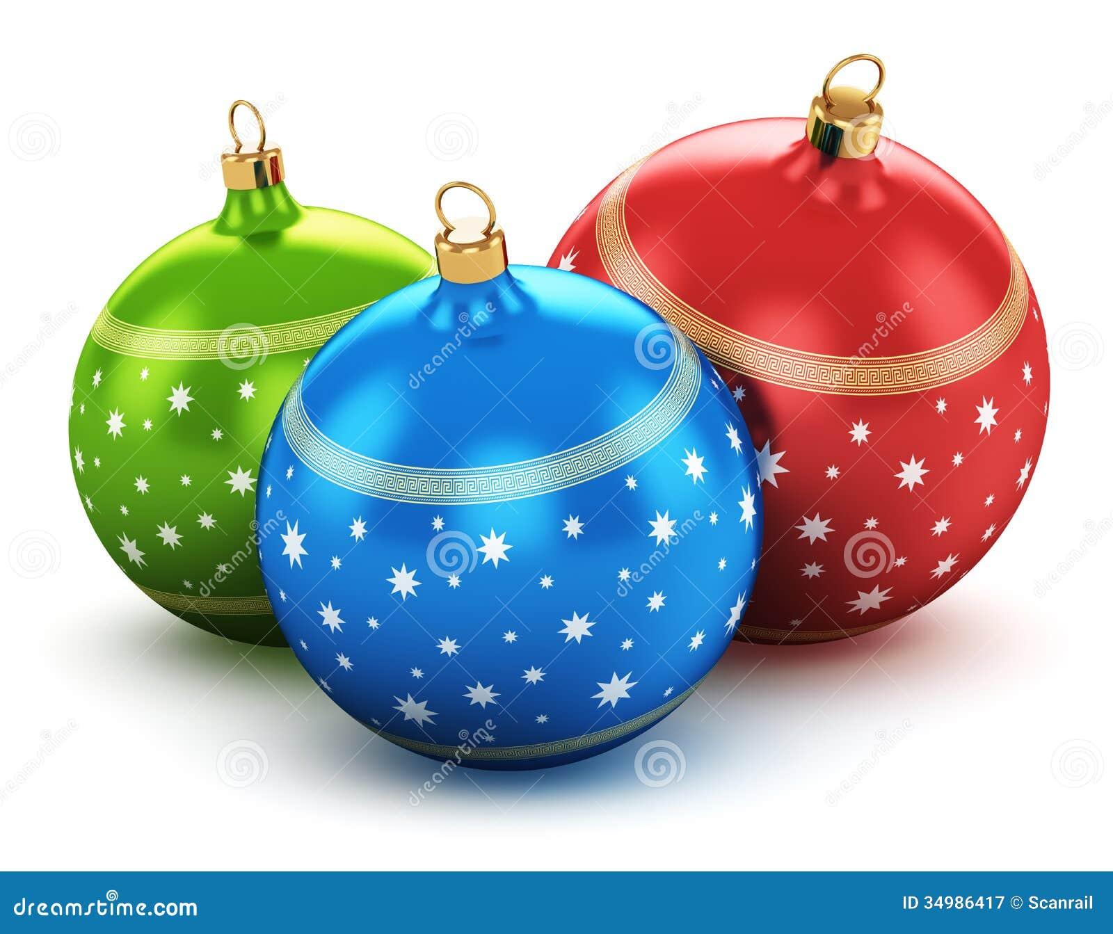 Color christmas balls stock illustration of