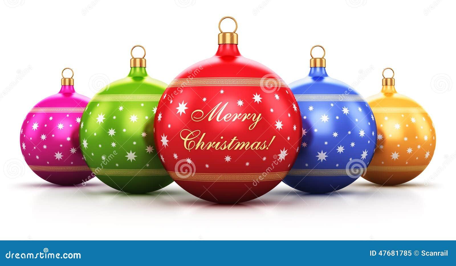 Color christmas balls stock illustration image