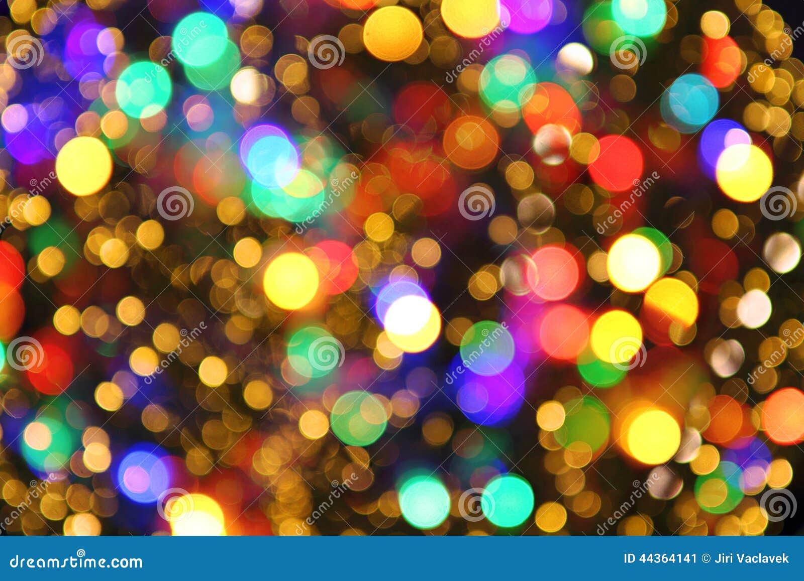 color christmas lights as nice background