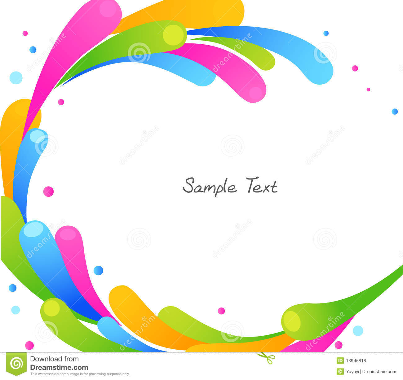 color circle stock vector  illustration of modern  pink