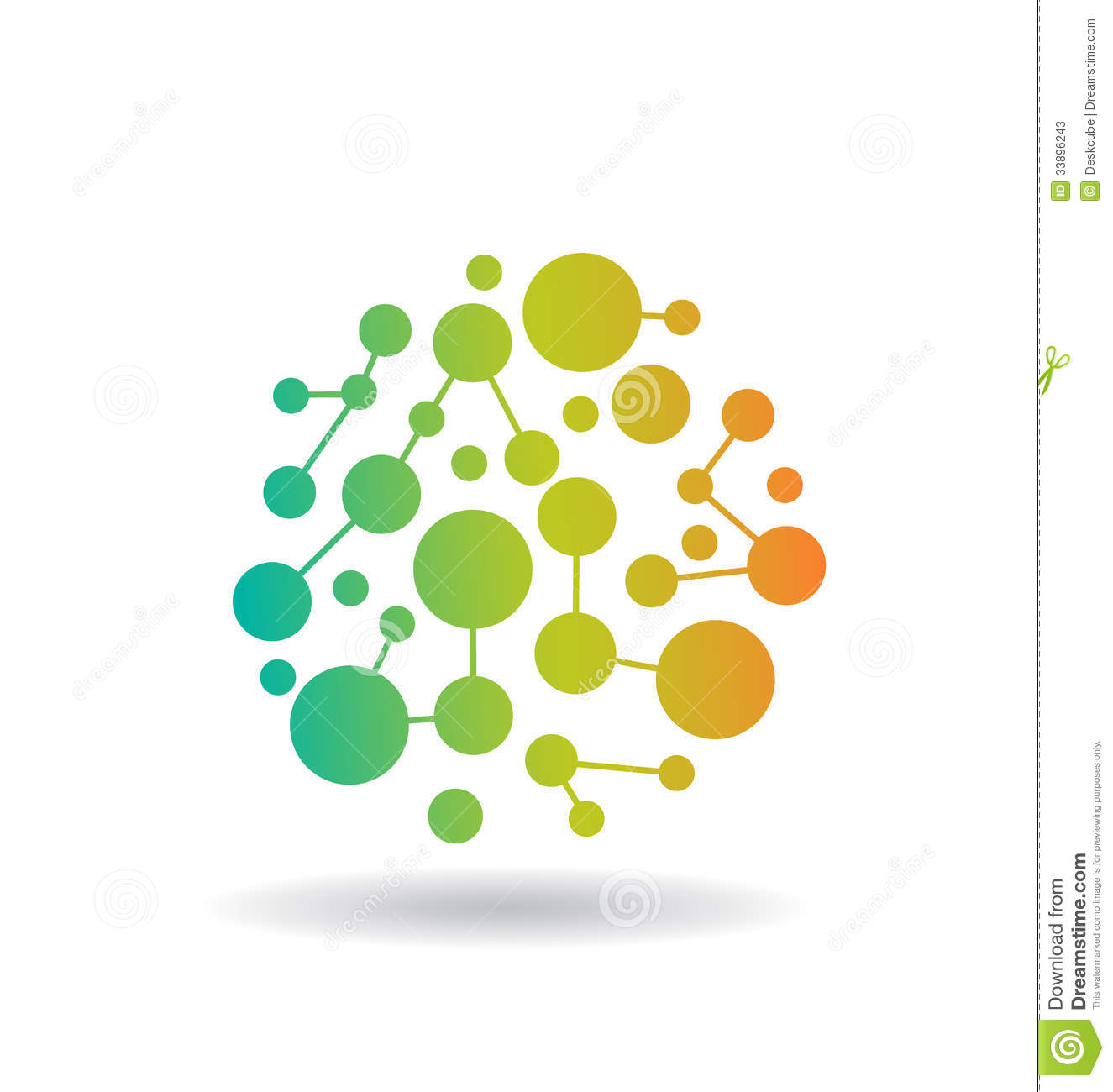 color circles network logo stock vector illustration of flow 33896243