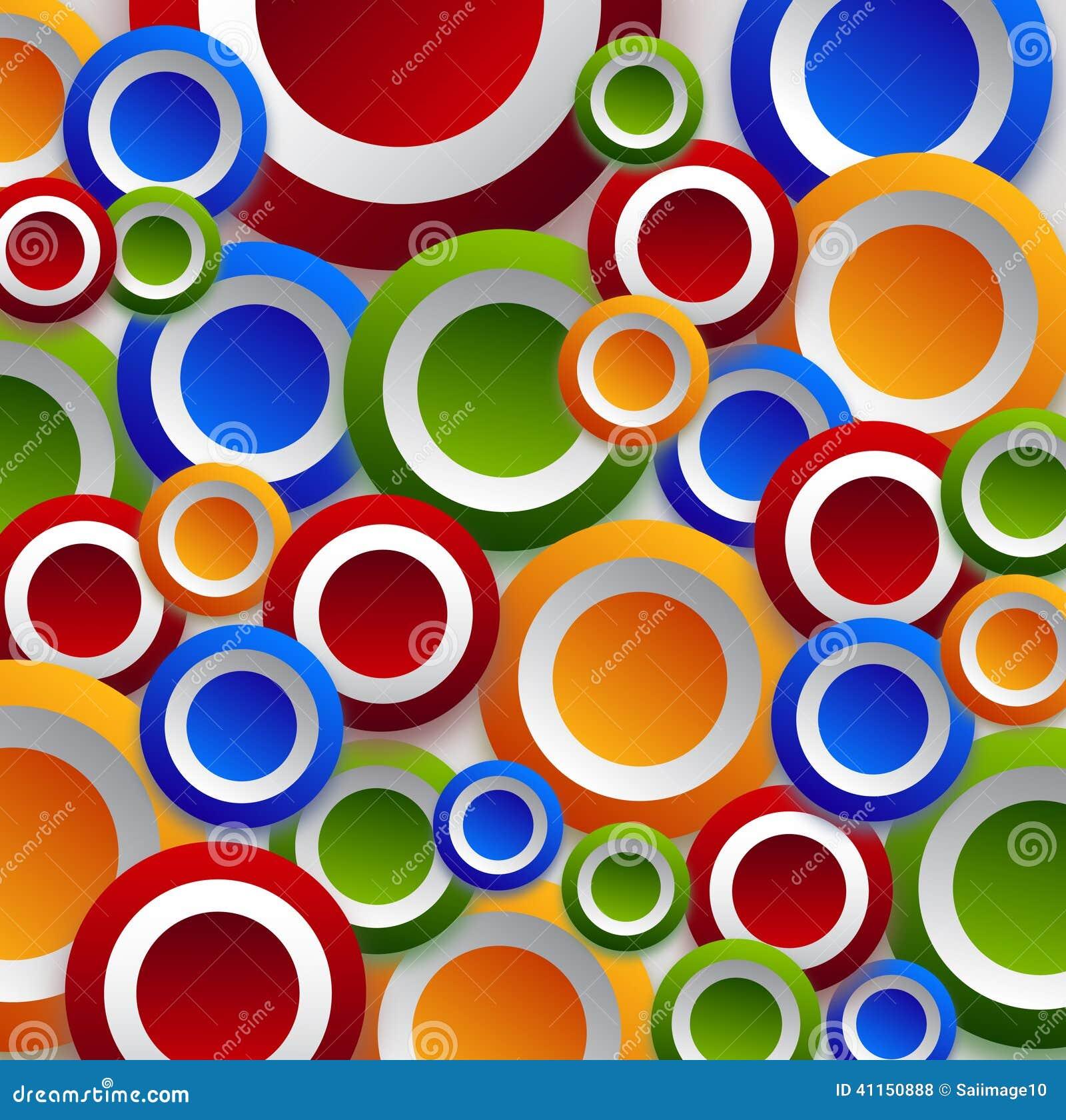 Circle Wallpaper: Color Circles Wallpaper Stock Illustration. Illustration
