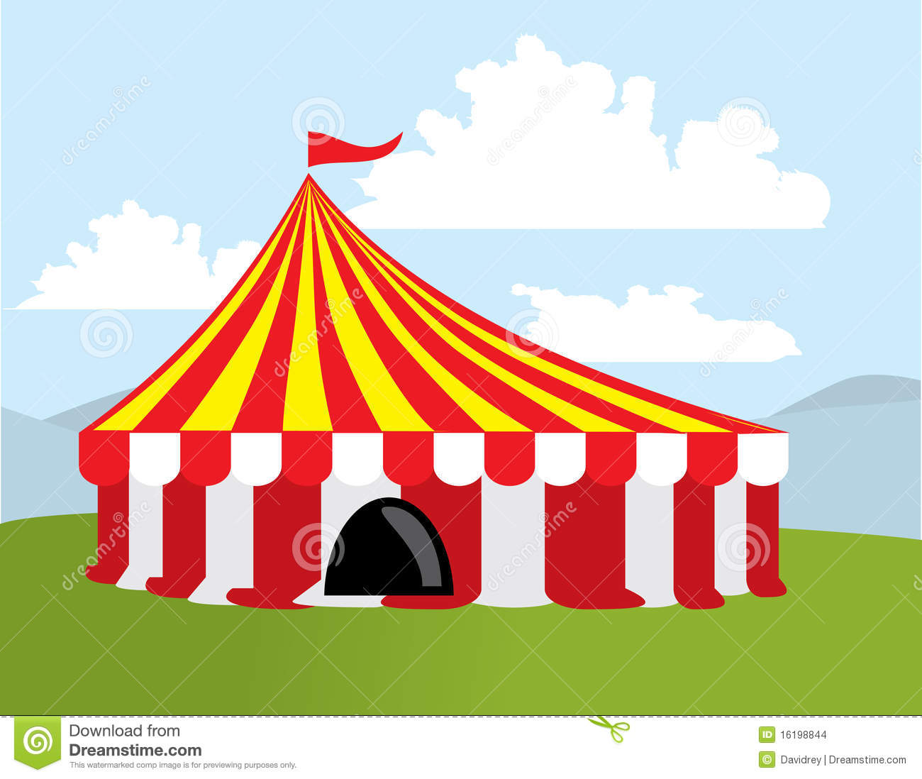 Color circus tent & Color circus tent stock vector. Illustration of clip - 16198844