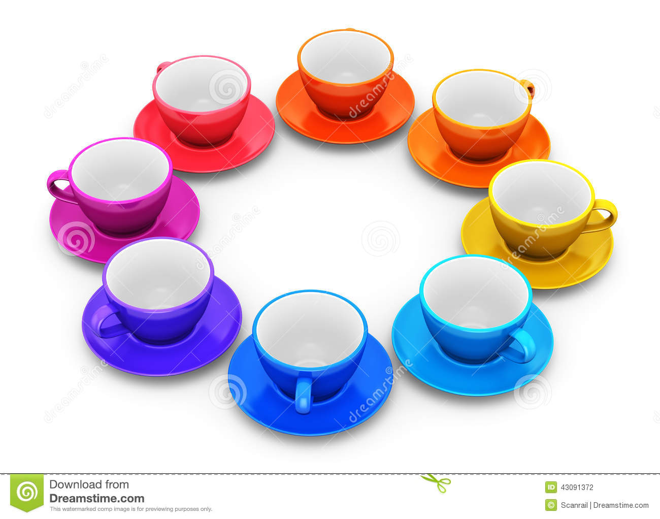 color coffee cups arranged circle porcelain drink mugs saucers white background 43091372 Coffee Cups And Saucers Stack Of Color Coffee Cups Stock Illustration Image Of Fresh