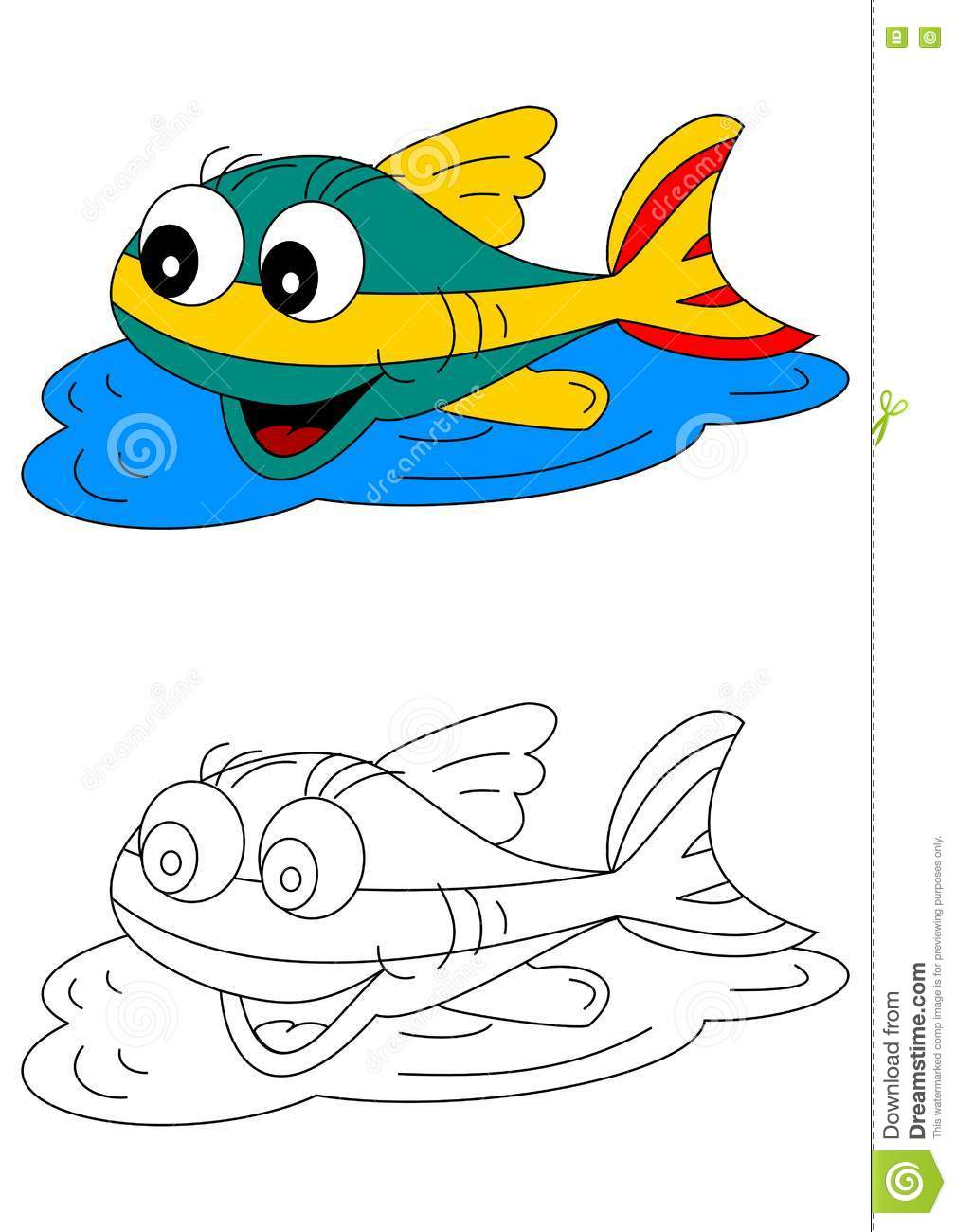 book children coloring fish - Colorful Fish Book
