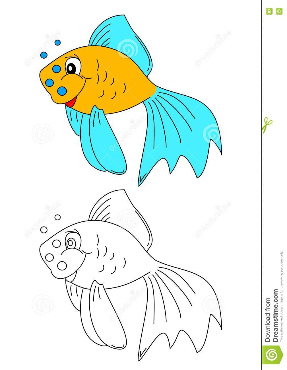 color coloring book for young children colorful fish - Colorful Fish Book