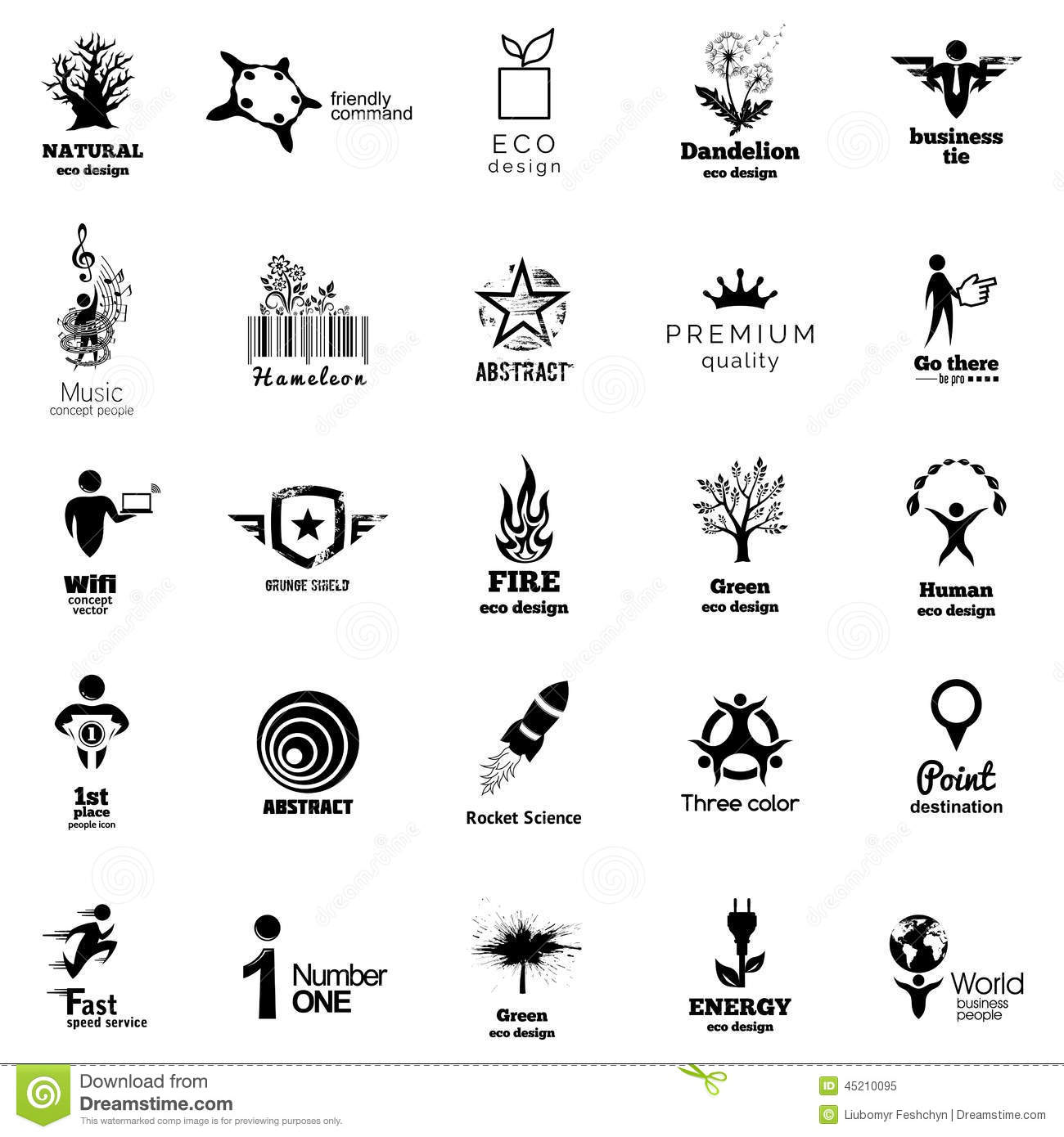 color corporate icon collection  abstact logo template