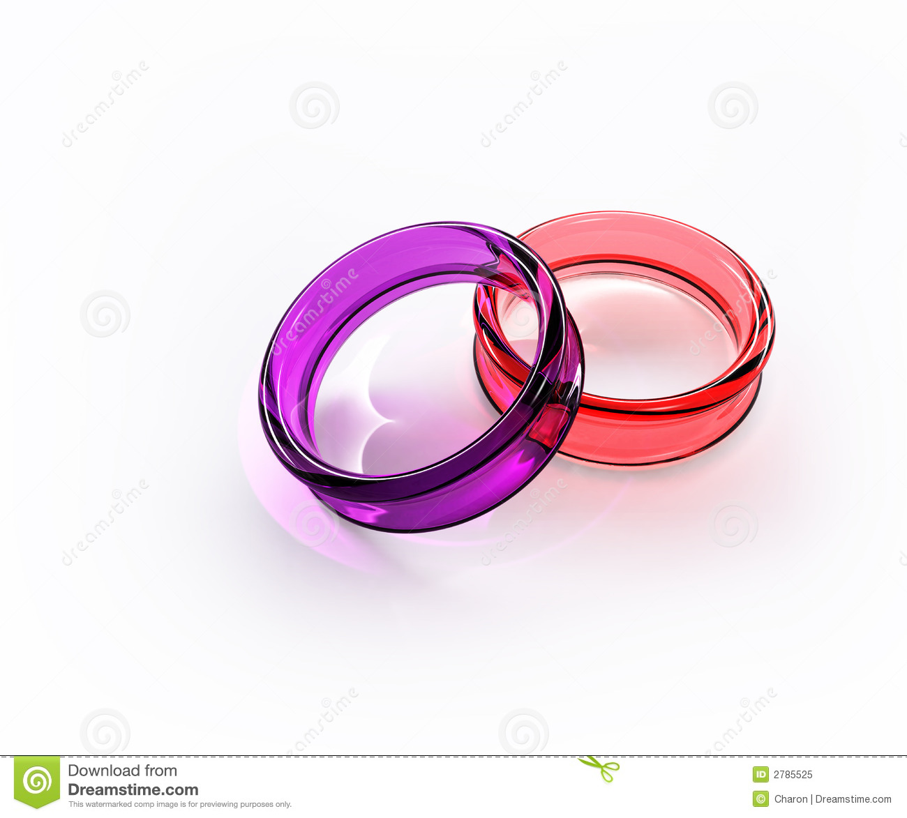 Color Crystal Glass Ring Isolated Stock Illustration