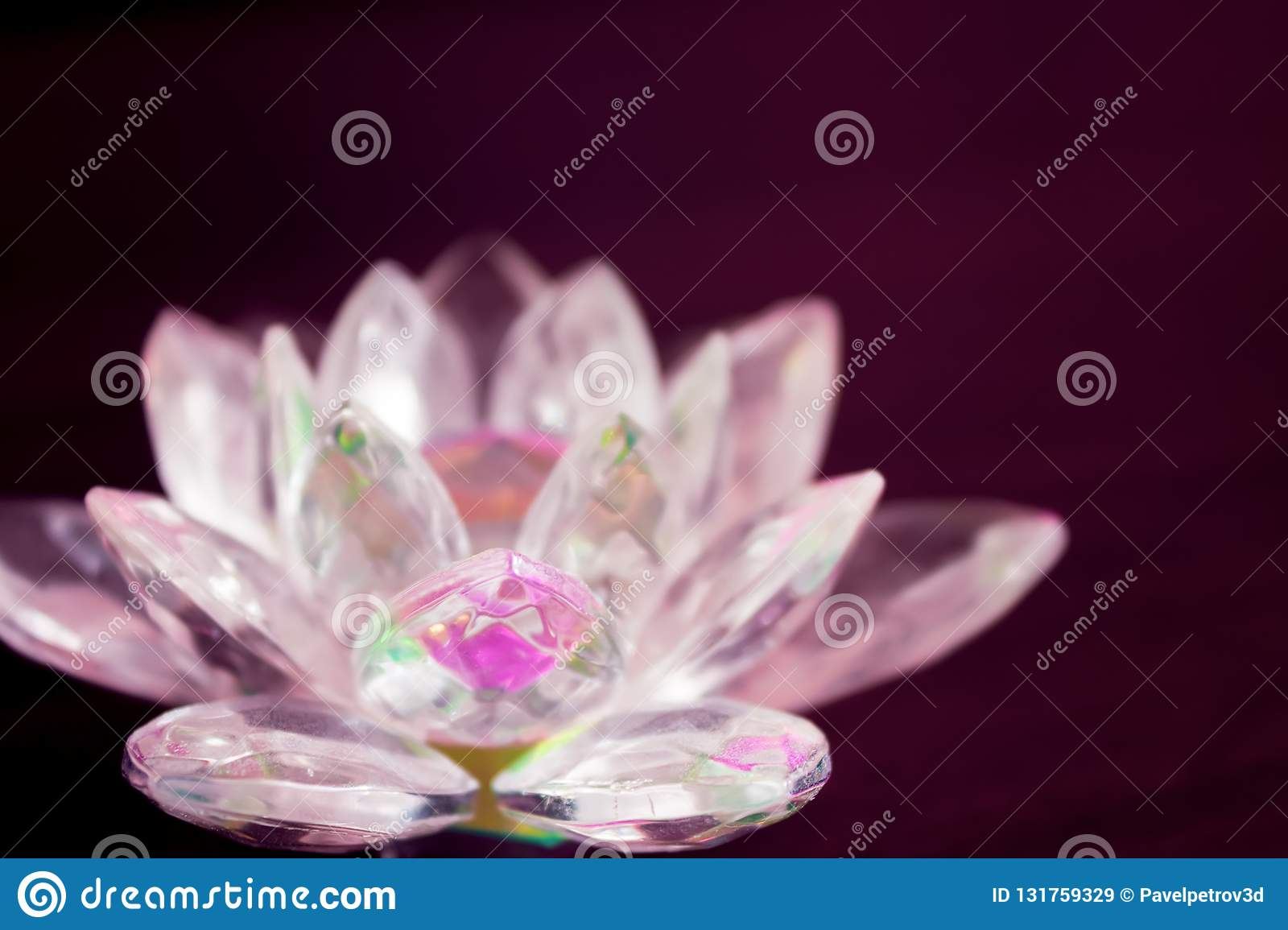 Color Crystal Lotus Stock Image Image Of Forms Black 131759329