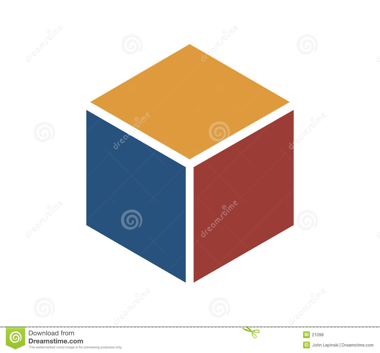 Red And Yellow Letter Logo: Color Cube Icon Stock Illustration. Illustration Of Icon